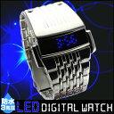 防水 LED デジタル ウォッチ メンズ 男性 紳士 腕時計 時計 デジタル SF 近未来 ウォッチ 防水 LED ステンレス オシャレ 高スペック クォーツ かっこいい シンプル 個性的 斬新 重厚 宇宙