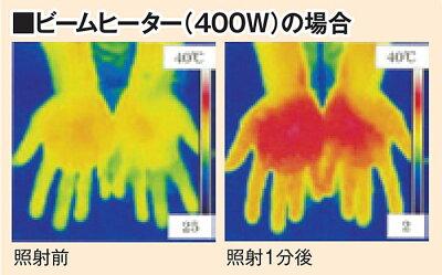 ビームヒーターキューブ【カタログ掲載1410暮らしの幸便73096】小型ヒーターヒーター小型コンパクトストーブあったか家電400w800w遠赤外線温熱効果遠赤外線持ち運び暖房コンパクト省エネ速暖即暖角度調節可能人気おしゃれ