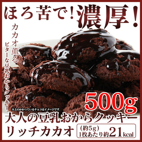 豆乳おからクッキー 500g おいしい リッチカカオ 訳あり お試し おからクッキー チョコ オカラクッキー ダイエット食品 豆乳 クッキー ダイエットクッキー おからくっきー プチ断食 豆乳クッキー ダイエットフード ダイエット クッキー 低カロリー 置き換え ギルトフリー