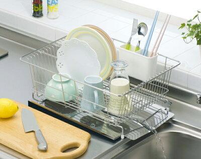 【ポイント2倍】水が流れるステンレス製水切りワイドキッチン用品キッチン水切り台所用品収納収納ラック便利グッズキャビネットP12Sep14