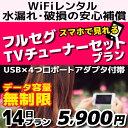 <往復送料無料> wifi レンタル TVチューナー 付 パッケージプラン 14日 無制限 ソフトバンク E5383 Anker PowerPort 4 安心補償 付き 入院 向け スマホ TV 視聴 WiFi wi-fi ポケットwifi