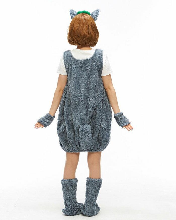 8月下旬入荷予約 送料無料 桃雪姫 ふわもこ 森の妖精 レディース 女性用 仮装 衣装 衣装 コスチューム トトロ:ウィッグの専門店ウィッグランド