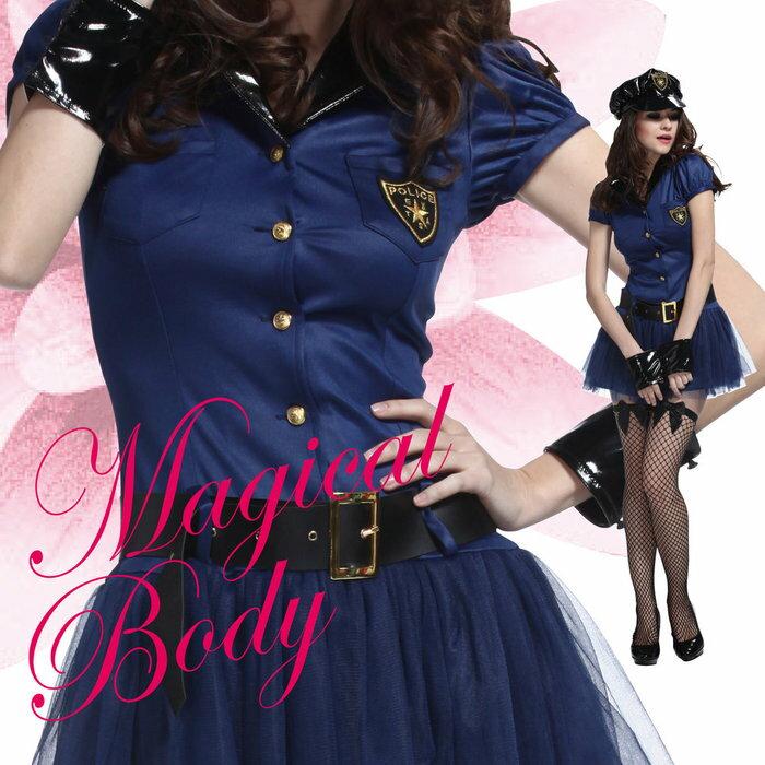 マジカルポリス レディース 女性 ニーソックス付き 衣装 仮装 ハロウィン 変装 コスチューム コスプレ 警察