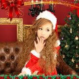 ウィッグでいつもと違うクリスマス★お人形ワッフルでガーリー&キュート!ウィッグ ハーフウィッグ 送料無料 プリシラ クリクリドーリー盛り(J-809)