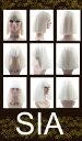 【Wigs2you】Sia/シーア/シャンデリア/ウィッグ/コスプレ/歌手/ボブ/黒金/黒白/ツート