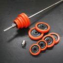 赤ラバーバーベルセット 110kg[WILD FIT ワイルドフィット]送料無料 筋トレ バーベル