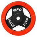 赤ラバーレギュラープレート7.5kg(2枚)[WILD FIT ワイルドフィット]