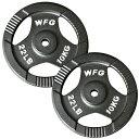 WILD FIT ワイルドフィット アイアン レギュラープレート 10kg(2枚)《返品 交換不可》ダンベル バーベル ウエイト 筋トレ トレーニング 腹筋 大胸筋 上腕筋 ベンチプレス フィットネス