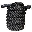 トレーニングロープ Φ38mm 黒[WILD FIT ワイルドフィット] 送料無料 ジムロープ スイングロープ アスリート 基礎 体幹