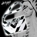 アウトレット、Lady Gaga レディー・ガガ Distortion Clutch Case - for iPhone 4S/4クラッチケース 保護フィルム、ホームボタンシール付き【オマケプレゼント】-stv