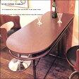 【あす楽】送料無料 [天板ウッド カウンターテーブル]棚付き・収納可能なハイテーブルカラー:ダークブラウン