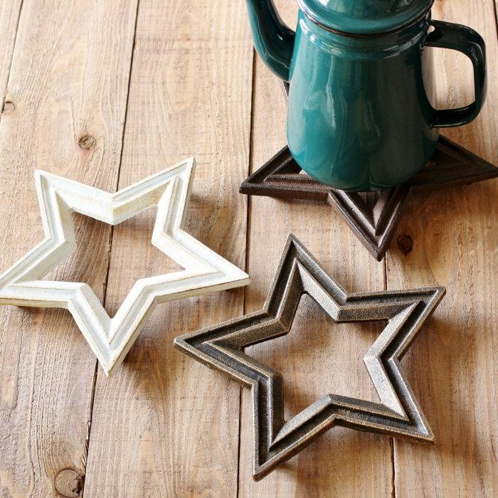 キャストアイアンスタートリベット/CASTIRON STAR TRIVET/鍋敷き/星/スター/アンティーク/アイアン/キッチン雑貨/インテリア/お洒落/雑貨