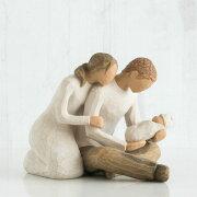 母の日ギフト プレゼント 花以外 出産祝い 懐妊 男の子 女の子 両親 ペア カップル 置物 おしゃれ 彫刻 白 ワンピース 癒やしグッズ かわいい 人形 インテリア オブジェ フィギュア ウィローツリー彫像 New Life