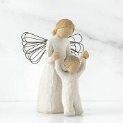 母の日ギフト プレゼント 花以外 出産祝い 懐妊 男の子 女の子 羽根 天使の置物 おしゃれ 彫刻 白 ワンピース 癒やしグッズ かわいい 人形 インテリア オブジェ フィギュア ウィローツリー天使像 Guardian Angel