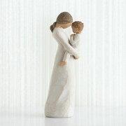 母の日ギフト プレゼント 花以外 出産祝い 懐妊 親子 置物 おしゃれ 彫刻 白 ワンピース 癒やしグッズ かわいい 人形 インテリア オブジェ フィギュア ウィローツリー彫像 Tenderness