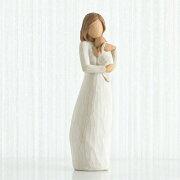 母の日ギフト プレゼント 花以外 出産祝い 懐妊 親子 置物 おしゃれ 彫刻 白 ワンピース 癒やしグッズ かわいい 人形 インテリア オブジェ フィギュア ウィローツリー彫像 Angel of Mine