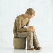 父 息子 ペア 置物 おしゃれ 彫刻 白 ワンピース 癒やしグッズ かわいい 人形 インテリア オブジェ フィギュア ウィローツリー彫像 New Dad