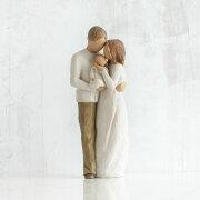 母の日ギフト プレゼント 花以外 出産祝い 懐妊 男の子 女の子 両親 ペア カップル 置物 おしゃれ 彫刻 白 ワンピース 癒やしグッズ かわいい 人形 インテリア オブジェ フィギュア ウィローツリー彫像 Our Gift