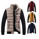 ショッピングダウンジャケット メンズ 中綿入り 中綿ジャケット 立ち襟 防寒 秋冬 防風 軽量 アウター 防寒 カジュアル 暖かい