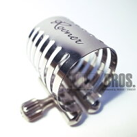 【新製品】ソプラノサックスラバー用リガチャーロブナープラチナP-1RVS(キャップ付)