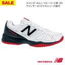 【SALE】ニューバランス テニスシューズ MC406 WHITE RED(2E) [new balance メンズ オムニ・クレーコート用]