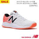 【SALE】ニューバランス MC606 2E WO3(WHITE/ORANGE) [new balance メンズ テニスシューズ オムニ・クレーコート用]