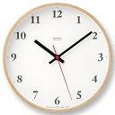 【ポイント10倍】Lemnos(レムノス)Plywood clock 電波時計 LC10-21W