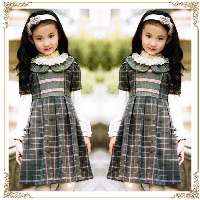 千鳥格子チェックフォーマルドレスフォーマルドレス・フォーマルドレス・キッズドレス・キッズドレス・子供