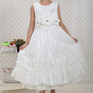 White Graduation Dresses For Kindergarten 116
