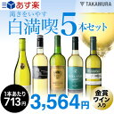 【第80弾】1本驚きの713円!いつでもやっぱり白満喫!!渇きをいやす5本 白ワインセット(送料別・