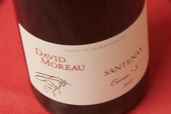 Domaine de la buys ALE (David Moreau) and Santon cuvee es [2010]