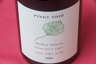 Shelter winery / Pinot Noir [2009]