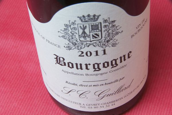 Domaine Michel guillard/Burgundy Rouge [2011]
