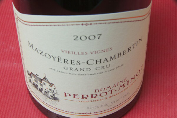 Domaine Pero tripe and mazowe ALE Chambertin vieilles Vignes [2007]