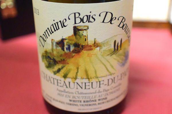 Domaine-Bois-de Boursin and Chateauneuf du-Pape, Blanc [2013]