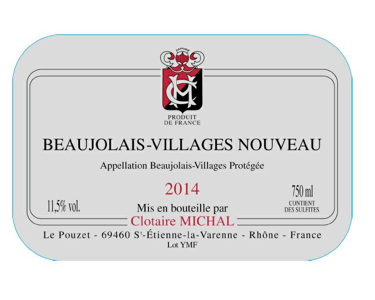 Domaine Clotaire portrait of a city and Beaujolais villages Nouveau [2014] ( book sale: delivery is 20 / 11 / 2014 )