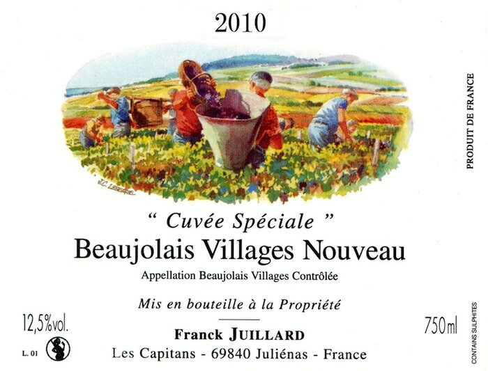 6,000 ml of Frank Jouy yard / Beaujolais nouveau [2014] bottle selling by subscription (selling by subscription:) Sending it 2014/11/20)
