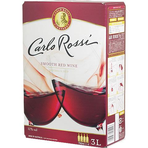 【BOXよりどり6個で送料無料】 <赤> カルロ・ロッシ レッド 3,000ml バッグインボックス 【あす楽対応_関東】 ボックスワイン 箱ワイン BOXワイン