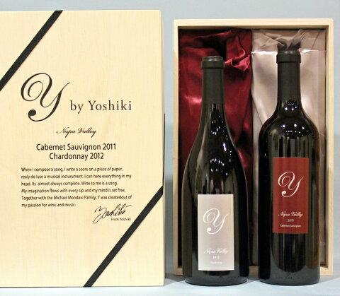 Y by Yoshiki Prestige Gift Box Set Chardonnay Napa Valley[2012] Cabernet[2011]ワイ・バイ・ヨシキ プレステージ ナパヴァレー 桐箱ボックスシャルドネ カベルネ