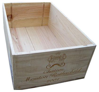 ウキウキワインの玉手箱 シャトー・ワイン木箱 12本用