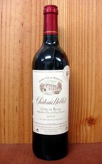 シャトー・ノブレ[2000]年・ユニオン・ド・プロデュクチュール・ド・プニャック元詰・AOC・コート・ド・ブール(シュッド・ウェスト・コンクール・全ワイン中(3e・Prix)第3位獲得ワイン)