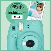 チェキ instax mini 8+ ミント 本体 富士フィルム インスタントカメラ