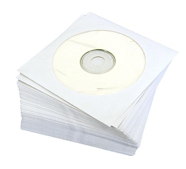 紙製CDケース100枚入りホワイト