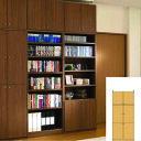 薄型 本棚 壁面本棚 全面扉付き壁面本棚 UX 壁面本棚 薄型書棚 簡単リフォーム 高さ23