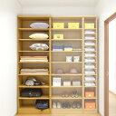 衣類棚 オーダーすきま収納 十分奥行31cm高さ135cm幅30~44cm標準棚板(厚さ1.7cm)