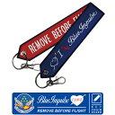 航空自衛隊 ブルーインパルスキーチェーン キーホルダー タグI LOVE Blue Impulse Remove Before Flight tagナスカン付 Blue Impulse フライトタグJASDF TAG グッズ goods【送料無料】