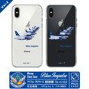 iPhone X 用 ワイヤレス充電対応 航空自衛隊 T-4 ブルーインパルス スマホ 携帯 ケース Ver.02第4航空団 第11飛行隊 Blue Impulse エンブレム マークJASDF ハード クリア シェル ジャケット カバーアイフォン10用 携帯 スマホ グッズ goods送料無料
