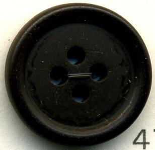 トップカラーポリボタン(マット) 4つ穴 ダークブラウン