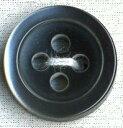 貝調ポリボタン 四つ穴 (黒)