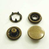 【カネエム製】 アメリカンホック 金属スナップボタン キャップ4パーツセット 12mm アンティックゴールド 【30set】